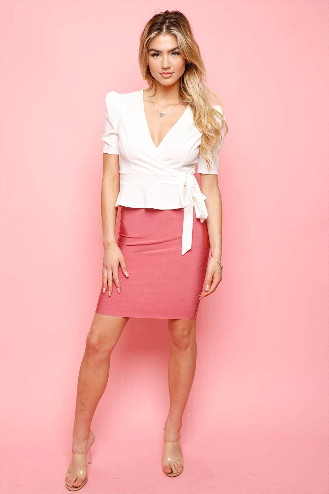 Perfect Bandage Skirt -Pink