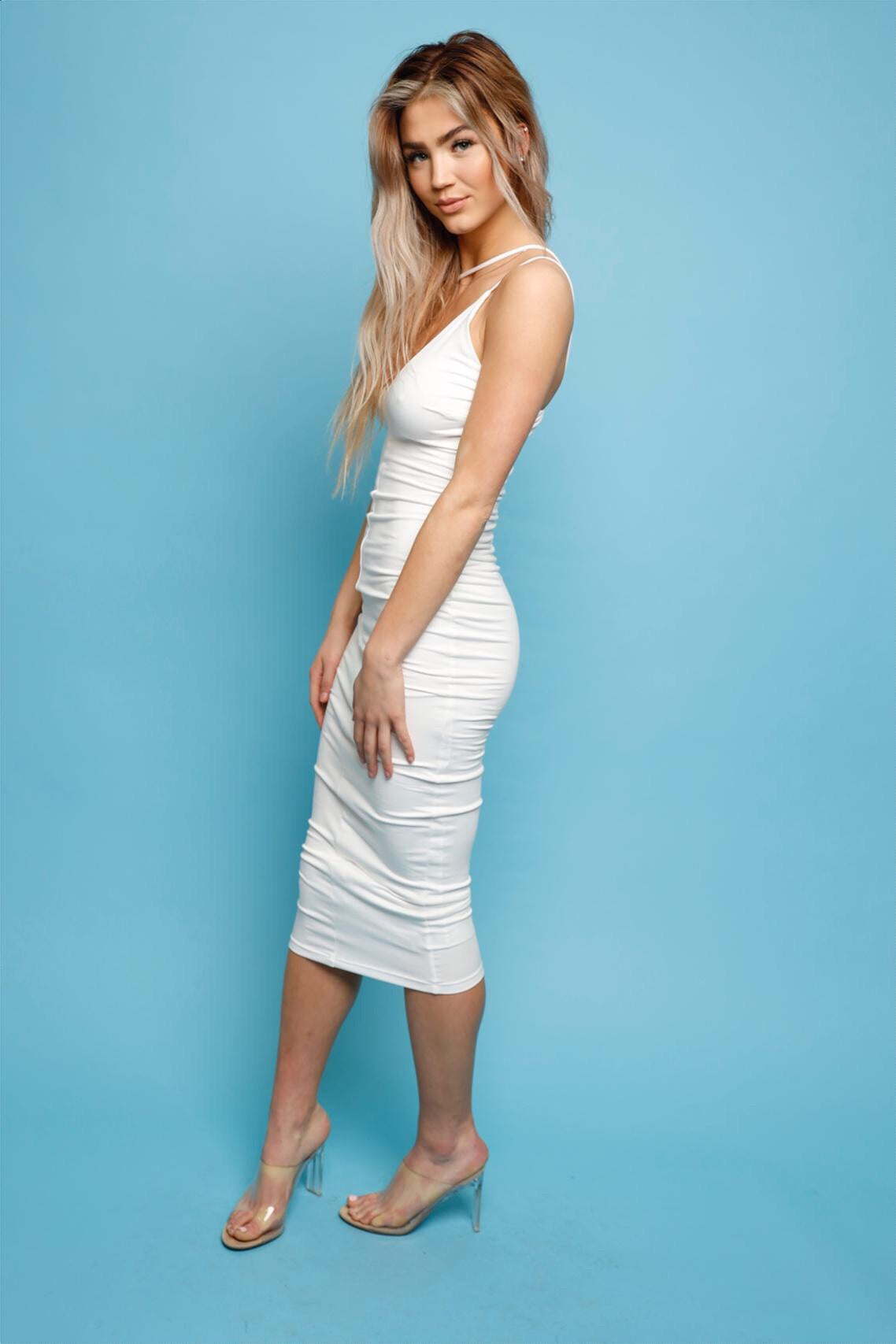 Do You Midi Dress -White