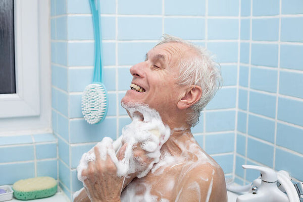 senior's safety when getting in and out of the bathtub