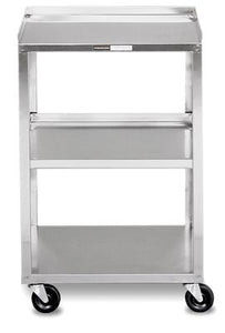 Mobile Stand - Stainless Steel - 3-shelf