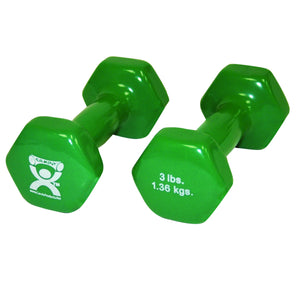 CanDo vinyl coated dumbbell - pair