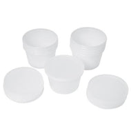 containers and lids ONLY for 1 lb putty (10 each)