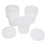 containers and lids ONLY for 5 lb putty (10 each)