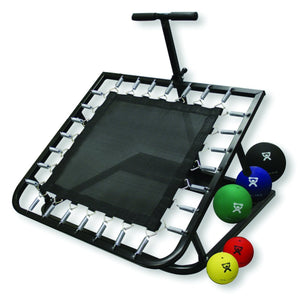 Adjustable Ball Rebounder - Set with Rectangular Rebounder, 5-balls (1 each: 2,4,7,11,15 lb)