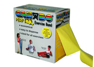 CanDo Low Powder Exercise Band - Perf 100 roll