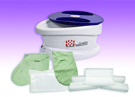 WaxWel Paraffin Bath - Standard Unit Includes: 100 Liners, 1 Mitt, 1 Bootie and 6 lb Lavender Paraffin
