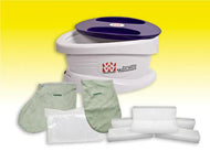 WaxWel Paraffin Bath - Standard Unit Includes: 100 Liners, 1 Mitt, 1 Bootie and 6 lb Citrus Paraffin