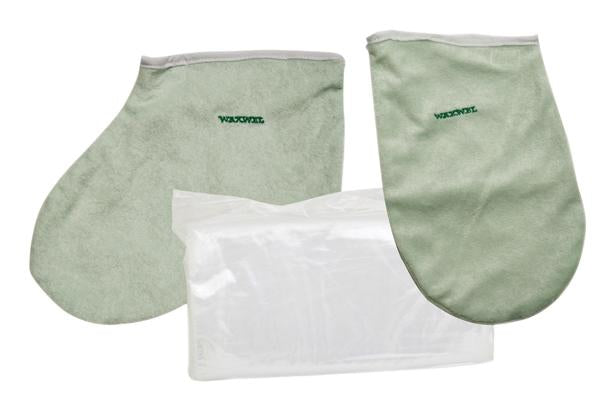 WaxWel Paraffin Bath - Accessory Package - 50 Liners, 1 Mitt and 1 Bootie ONLY