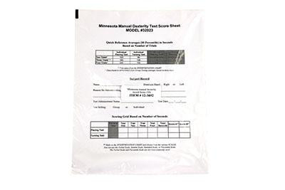 Manipulation and Dexterity Test - Minnesota Accessory - 50 Record Forms