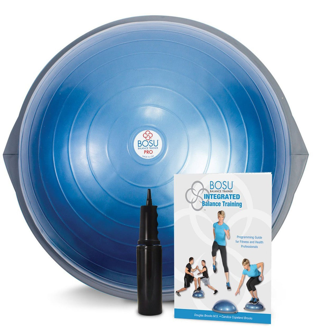 BOSU PRO Balance Trainer with training manual and instructional video