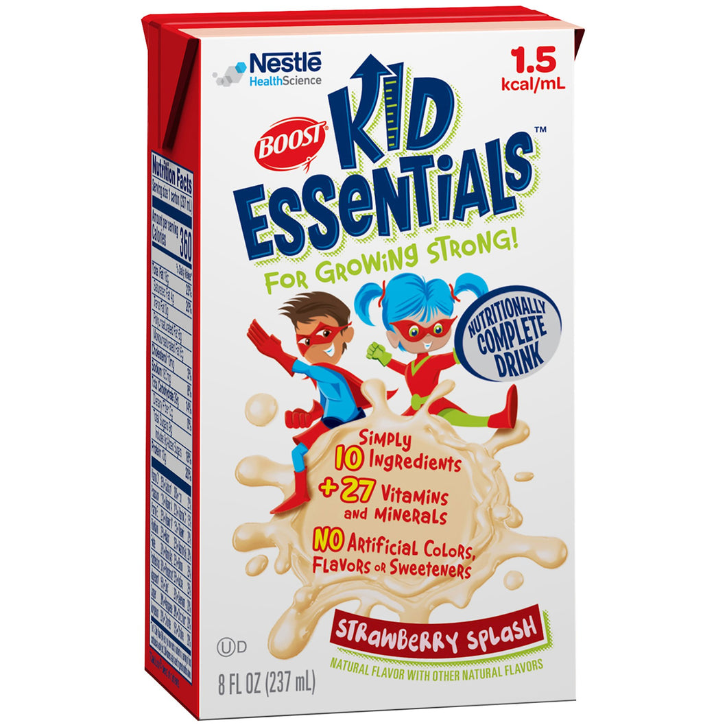 Boost(R) Kid Essentials(TM) 1.5 Pediatric Strawberry Oral Supplement/Tube Feed Formula, 8 oz. Carton