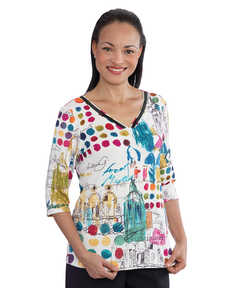 Wonderful Conventional T-Shirt Top For Women – Print