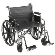 McKesson Heavy-Duty Wheelchair with Padded, Removable Arm, Composite Mag Wheel, 24 in. Seat, Swing-Away Footrest, 450 lbs