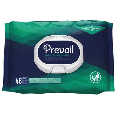 Prevail(R) Unscented Washcloths, Soft Pack