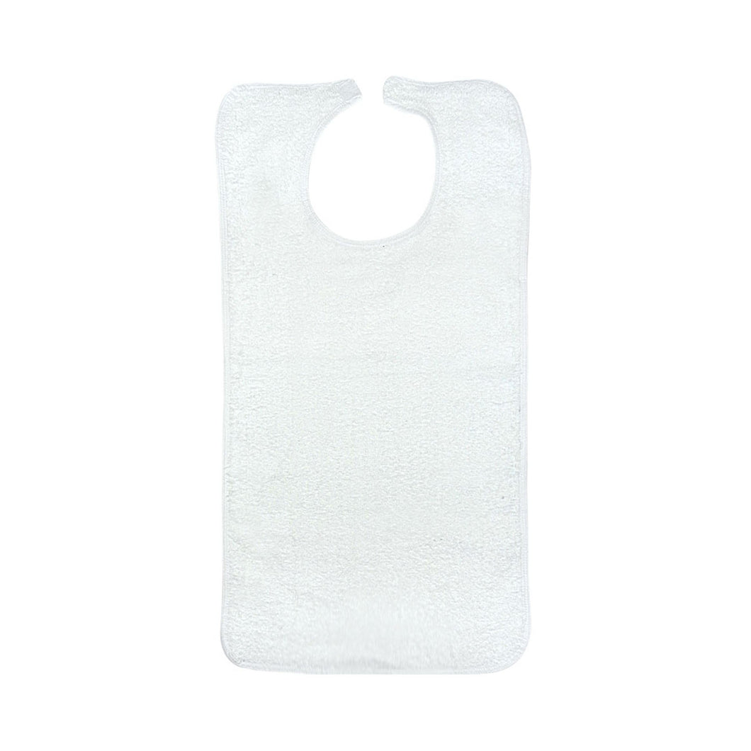 Beck's Classic Terry Adult Bib, White