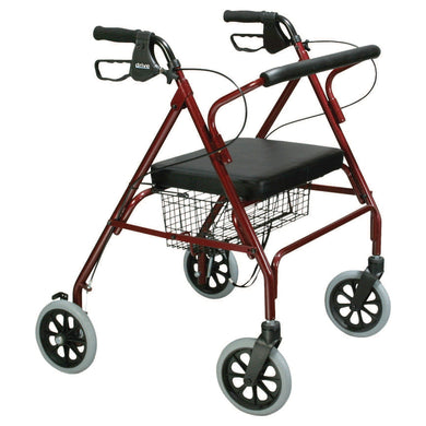 drive(TM) Go-Lite 4-Wheel Bariatric Rollator, Red