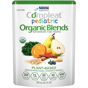 Compleat(R) Pediatric Organic Blends Plant Blend Oral Supplement/Tube Feeding Formula, 10.1 oz. Pouch