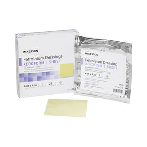 McKesson Xeroform Sterile Bismuth Tribromophenate Petrolatum Dressing, 4 x 4 Inch