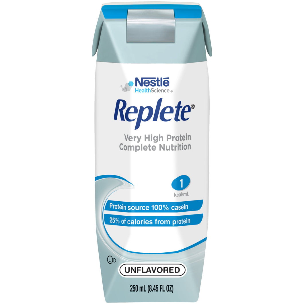 Replete(R) Oral Supplement / Tube Feeding Formula, Unflavored, 250 mL Carton