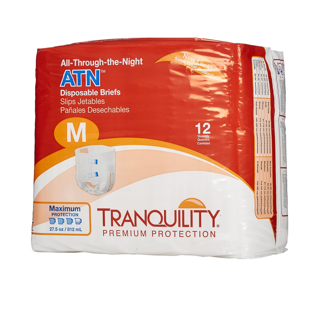 Tranquility(R) ATN Maximum Protection Incontinence Brief, Medium