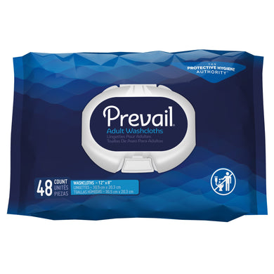 Prevail(R) Fresh Scent Washcloths, Soft Pack