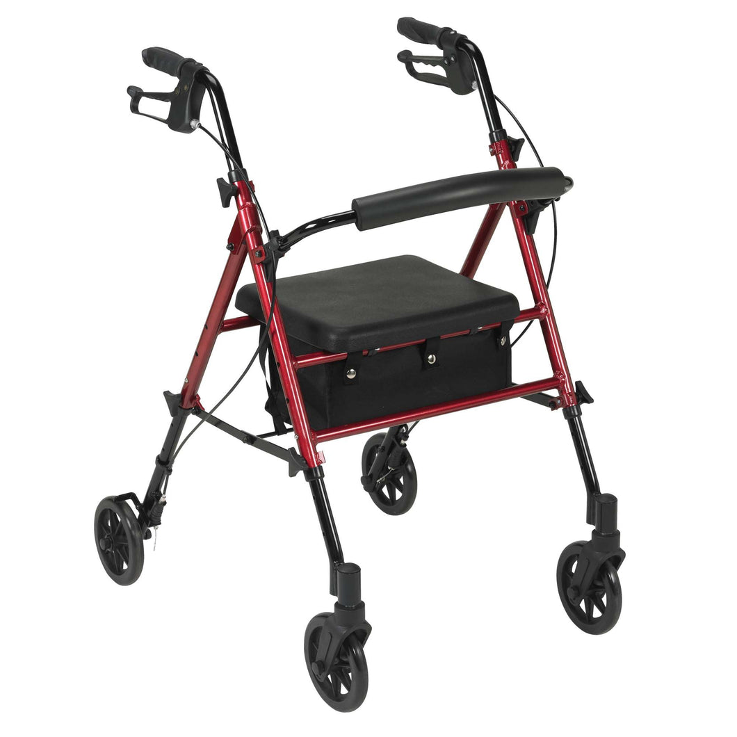 drive(TM) 4-Wheel Rollator, Red