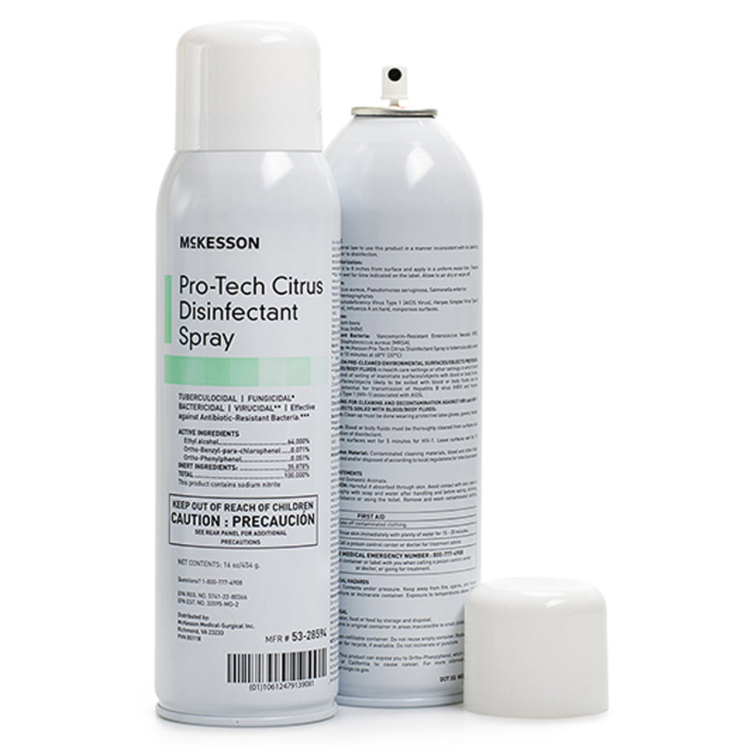 McKesson Pro-Tech Surface Disinfectant Cleaner, 16 oz. Aerosol Spray Can