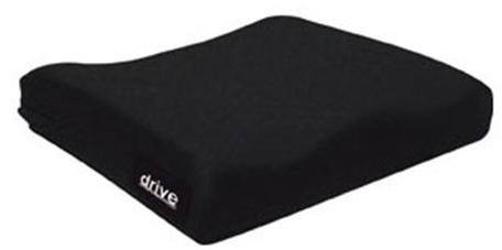 drive(TM) Seat Cushion, 18 in. W x 16 in. D x 2 in. H, Foam, Black, Non-inflatable