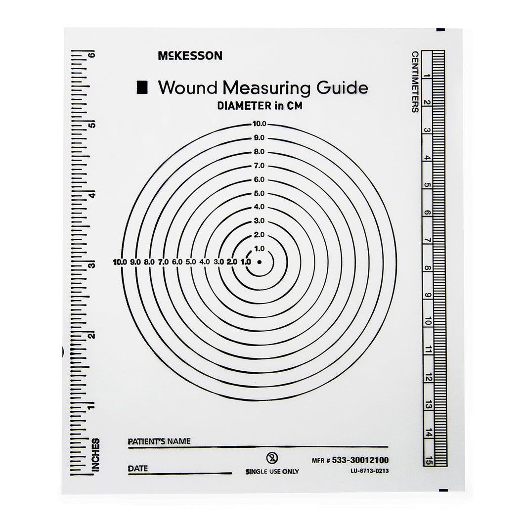 McKesson Nonsterile Plastic Wound Measuring Guide, 5 x 7 Inch