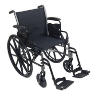 McKesson Standard Wheelchair with Flip Back, Padded, Removable Arm, Composite Mag Wheel, 18 in. Seat, Swing-Away Footrest,...