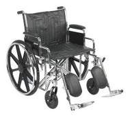 McKesson Heavy-Duty Wheelchair with Padded, Removable Arm, Composite Mag Wheel, 22 in. Seat, Swing-Away Elevating Footrest...
