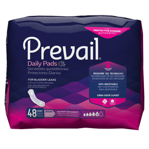 Prevail(R) Daily Pads Maximum Bladder Control Pad, 11-Inch Length