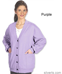 Women's Quality Fleece Cardigan