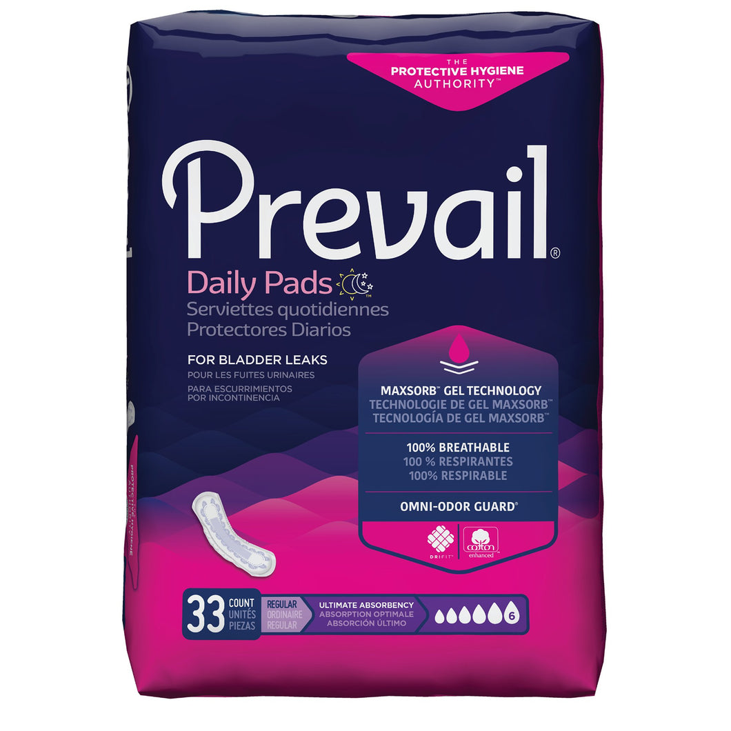 Prevail(R) Daily Pads Ultimate Bladder Control Pad, 16-Inch Length