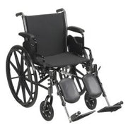 McKesson Lightweight Wheelchair with Flip Back, Padded, Removable Arm, Composite Mag Wheel, 18 in. Seat, Swing-Away Elevat...