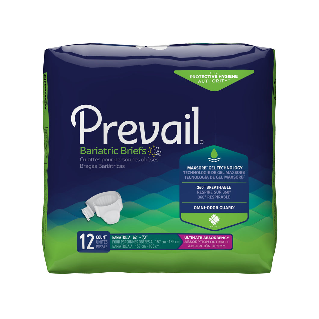 Prevail(R) Bariatric Ultimate Incontinence Brief, Size A