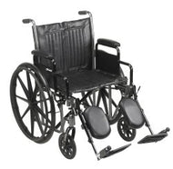 McKesson Standard Wheelchair with Padded, Removable Arm, Composite Mag Wheel, 20 in. Seat, Swing-Away Elevating Footrest, ...