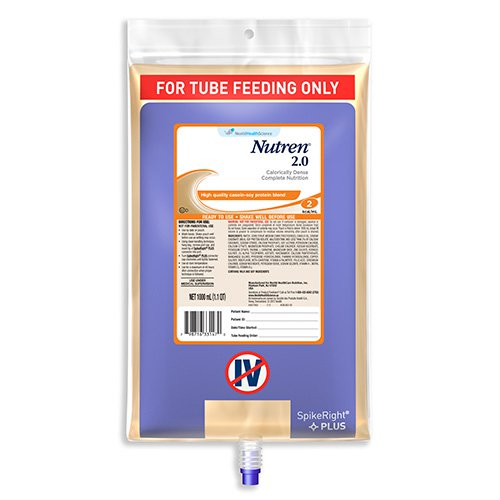 Nutren(R) 2.0 Tube Feeding Formula, Unflavored, Ready-to-Hang 33.8 oz. Bag