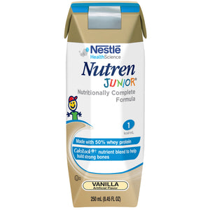 Nutren(R) Junior Fiber Pediatric Ready to Use Oral Supplement/Tube Feeding Formula, 250 mL Carton, Vanilla