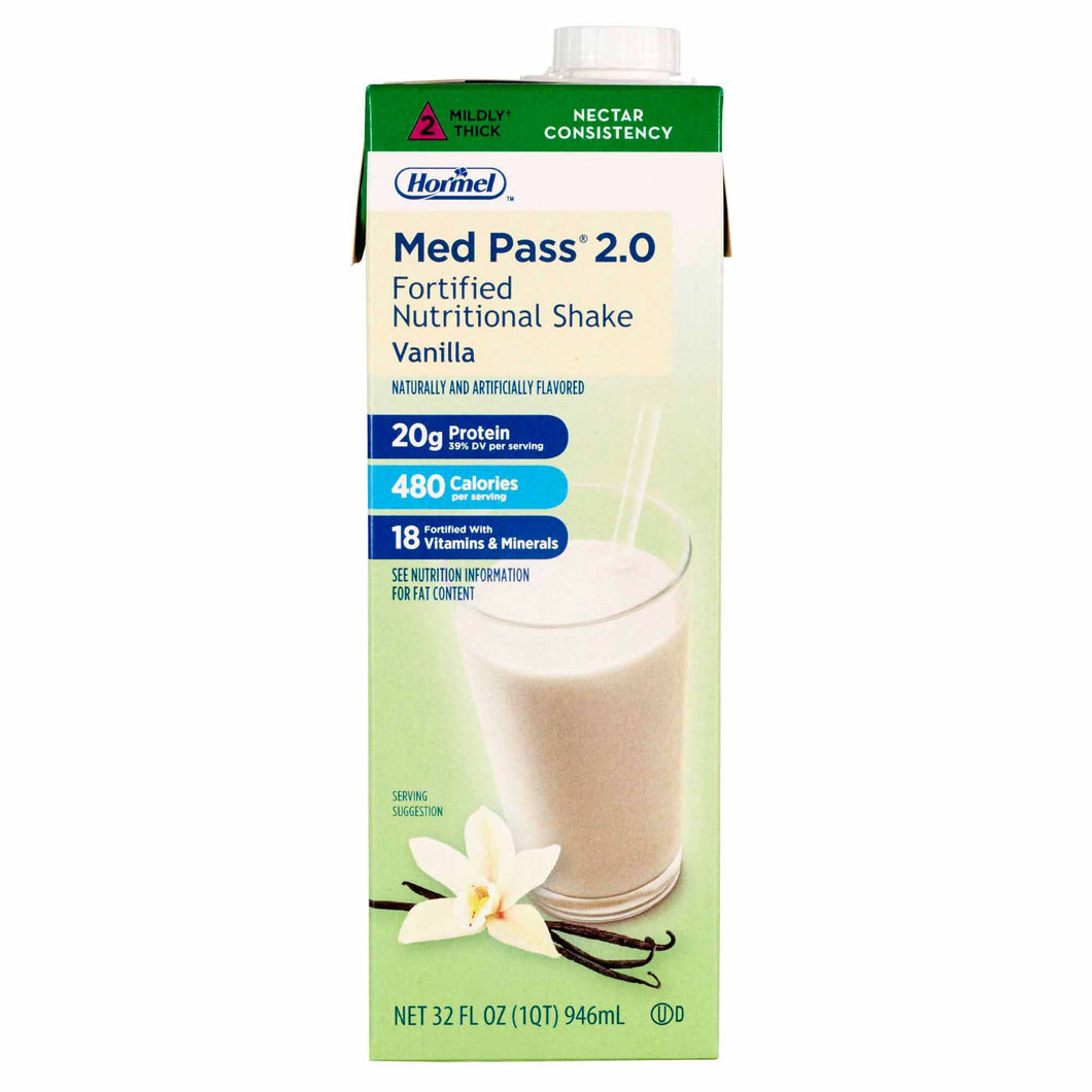 Med Pass(R) Fortified Vanilla Nutrition Shake, 32 oz. Carton