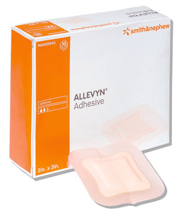 Allevyn Square Adhesive Sterile Foam Dressing with Border, 5 x 5 Inch