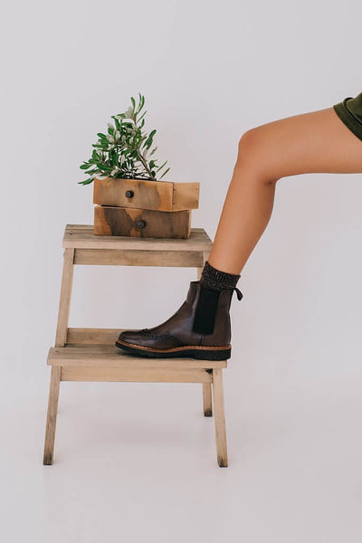 Abril Chelsea & Oxford Boots - Brown Chocolate Leather