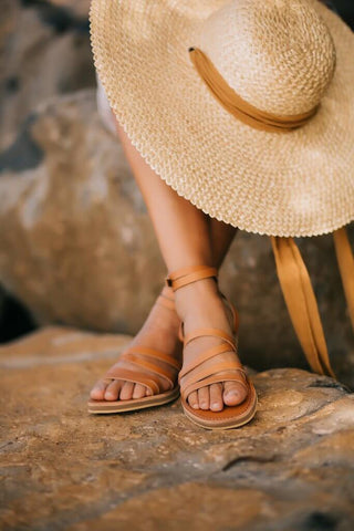 Roma Sandals - Tan Leather