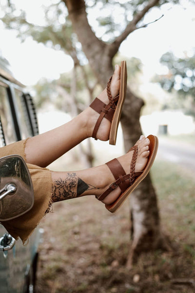 Tarifa Sandals - Moka Leather