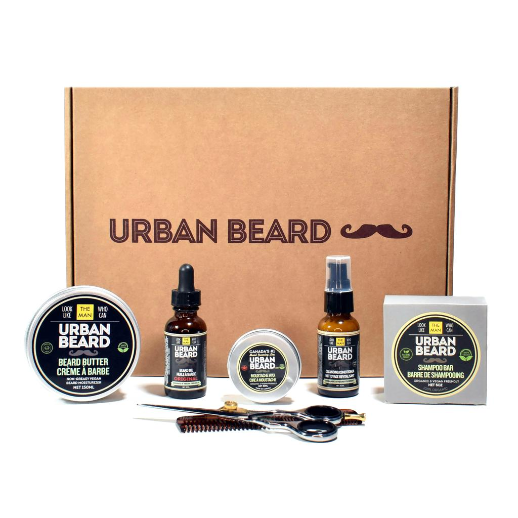 Beard essentials kit with beard oil