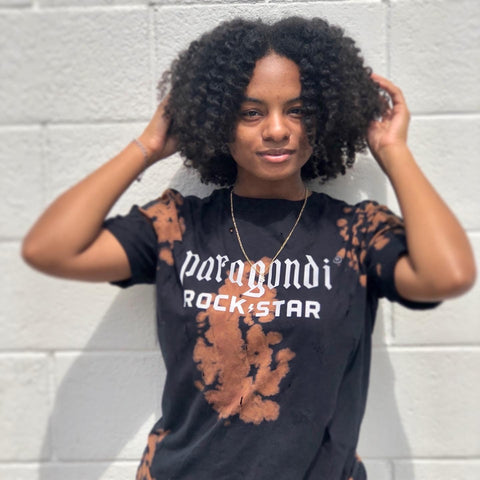 Paragondi Rockstar Distressed Bleached T-Shirt (Reflective)