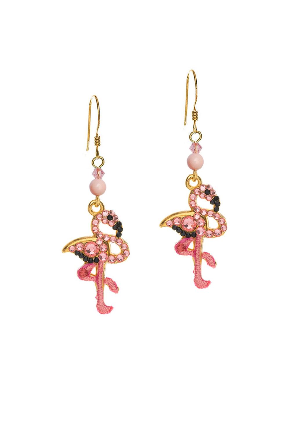 Small Flamingo earrings 22k Gold Plated