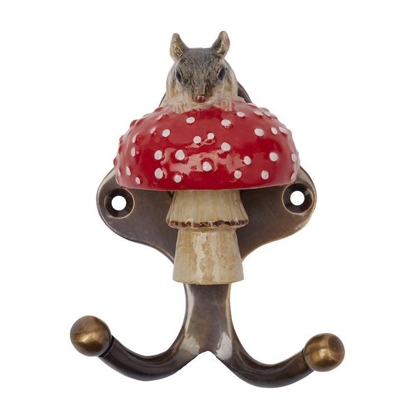 Mouse on Mushroom Hook