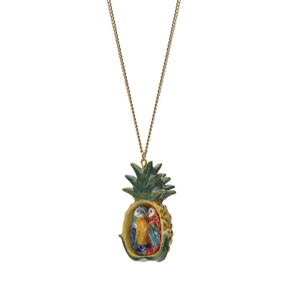 Parrots in Pineapple Necklace
