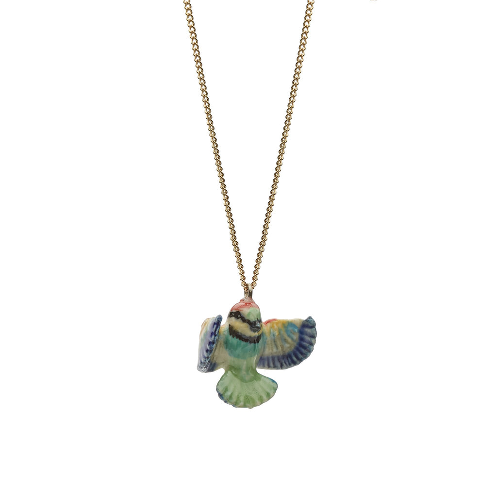porcelain bee eater necklace
